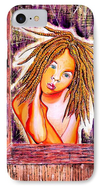 IPhone Case featuring the painting Golden Child by Julie Hoyle