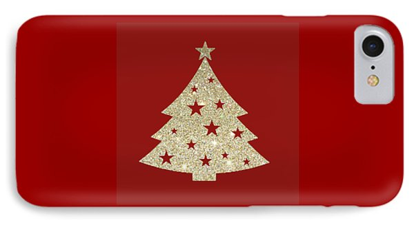Golden Christmas Tree IPhone Case