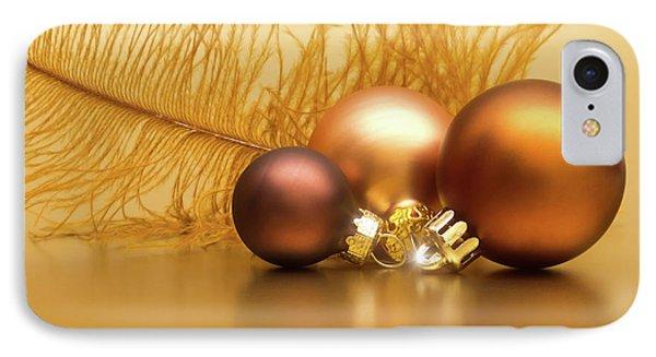 Golden Christmas Phone Case by Wim Lanclus