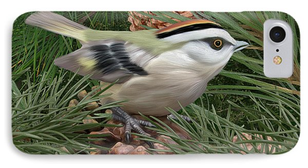 Golden Crowned Kinglet IPhone Case by Walter Colvin