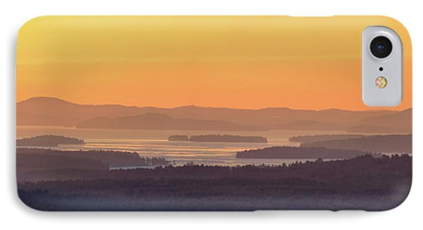 Golden Dawn Over Squam And Winnipesaukee IPhone Case by Sebastien Coursol