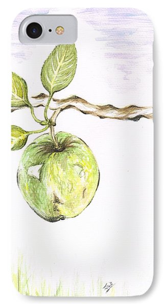 Golden Delishous Apple IPhone Case by Teresa White