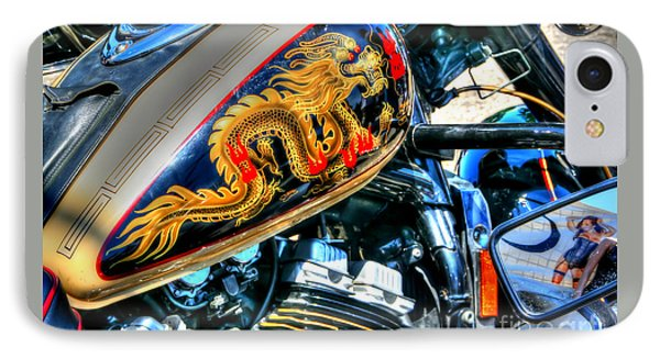 IPhone Case featuring the photograph Golden Dragon by Adrian LaRoque