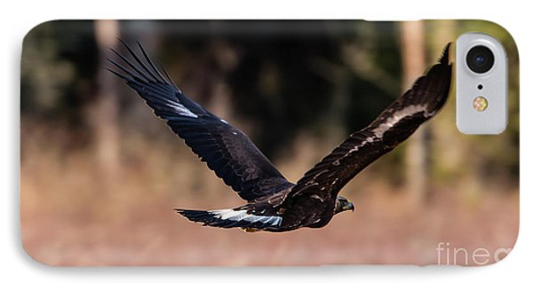 IPhone Case featuring the photograph Golden Eagle Flying by Torbjorn Swenelius