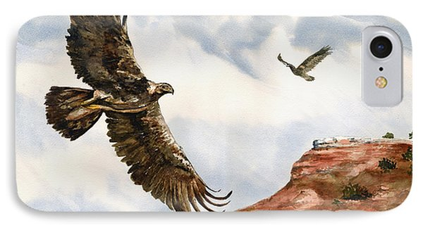 Golden Eagles In Fligh IPhone Case by Sam Sidders