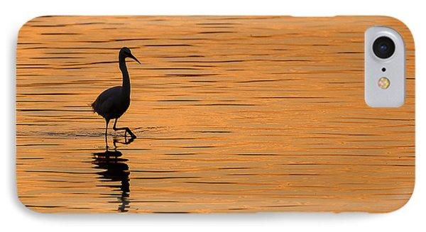Egret iPhone 7 Case - Golden Egret by Paul Neville