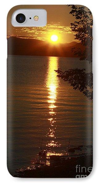 Golden Evening Sun Rays Phone Case by Deborah Benoit