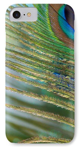 Golden Feather Phone Case by Lisa Knechtel