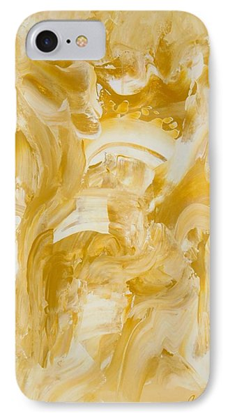 IPhone Case featuring the painting Golden Flow by Irene Hurdle