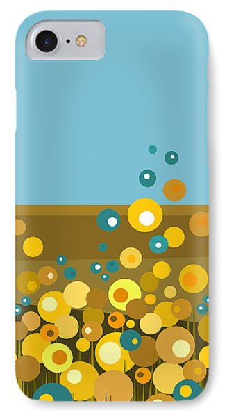 Golden  Flowers IPhone Case by Val Arie