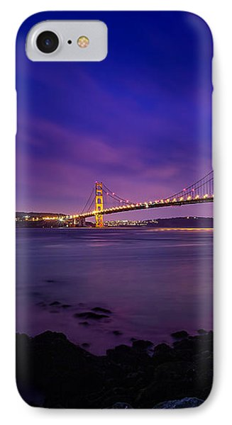 Golden Gate Bridge At Night IPhone Case by Ian Good