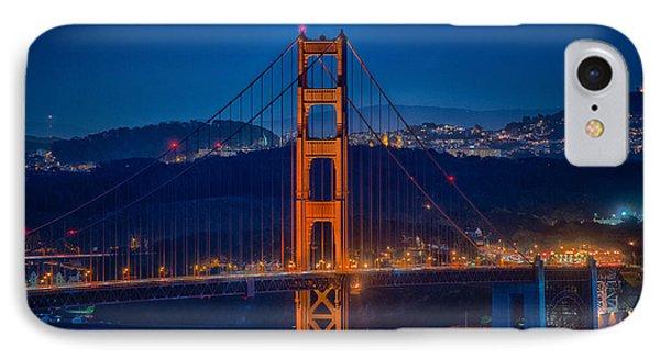 Golden Gate Bridge Blue Hour IPhone Case by Paul Freidlund