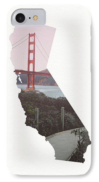 IPhone Case featuring the mixed media Golden Gate Bridge California- Art By Linda Woods by Linda Woods