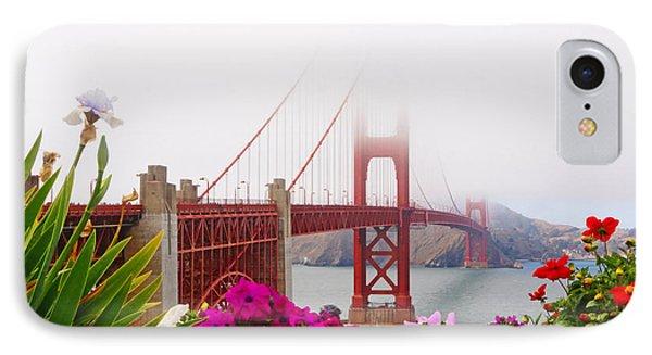 Golden Gate Bridge Flowers 2 IPhone Case