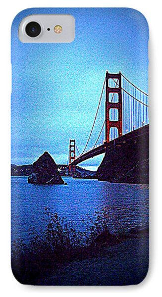 Golden Gate Bridge From Cavallo Point - Fort Baker - Sausalito, California - Below Vista Point Photo IPhone Case by Rich Bertolina