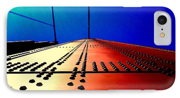 Golden Gate Bridge In California Rivets And Cables IPhone Case by Michael Hoard