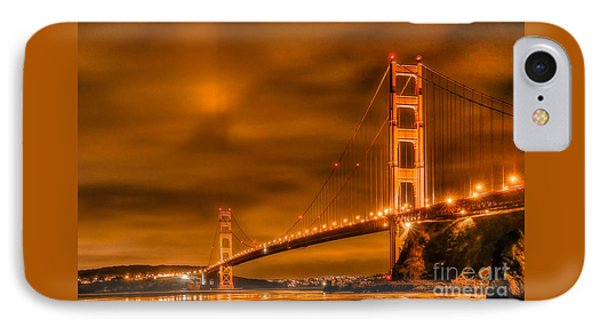 IPhone Case featuring the photograph Golden Gate Bridge - Nightside by Jim Carrell