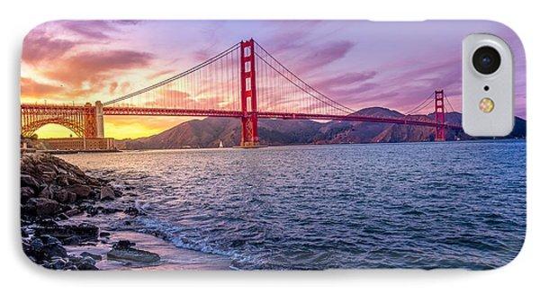 Golden Gate Bridge IPhone Case by Edward Fielding