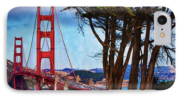 Golden Gate Bridge Presidio IPhone Case by Doug Sturgess