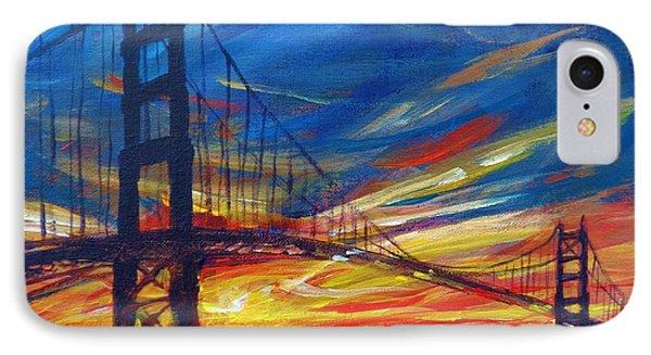 Golden Gate Bridge Sketch IPhone Case by Vanessa Hadady BFA MA