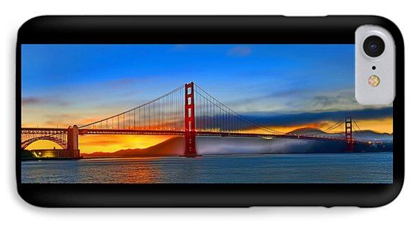 IPhone Case featuring the photograph Golden Gate Bridge Sunset by Steve Siri