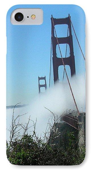 Golden Gate Bridge Towers In The Fog Phone Case by Bonnie Muir
