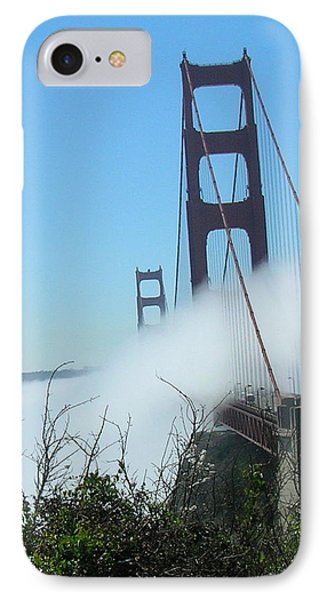 Golden Gate Bridge Towers In The Fog IPhone Case by Bonnie Muir