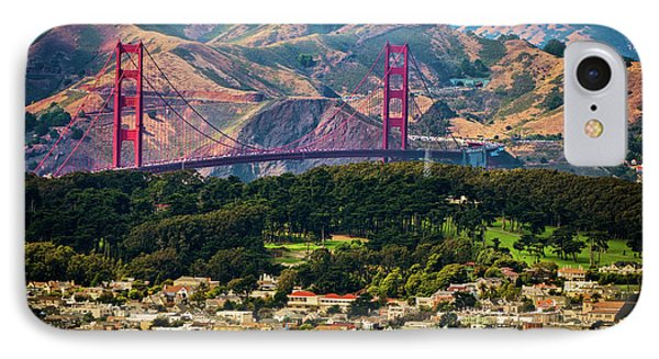 Golden Gate Bridge - Twin Peaks IPhone Case by Doug Sturgess