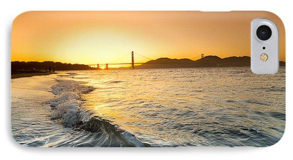 Golden Gate Curl IPhone Case by Sean Davey