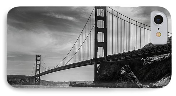 Golden Gate East Bw IPhone Case