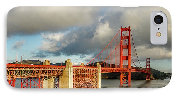 IPhone Case featuring the photograph Golden Gate From Above Ft. Point by Bill Gallagher