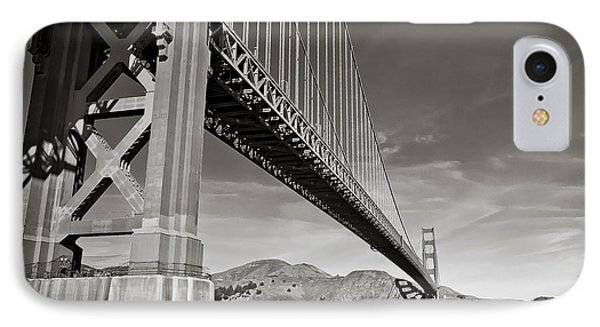 Golden Gate From The Water - Bw IPhone Case by Darcy Michaelchuk