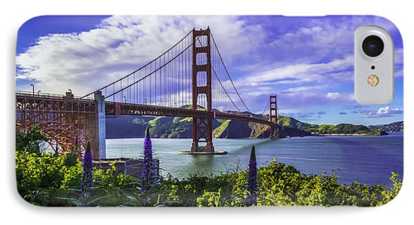 Golden Gate Of Spring IPhone Case by Phil Fitzgerald