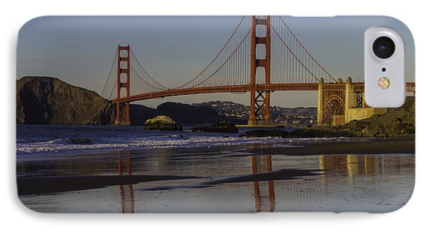 Golden Gate Reflection IPhone Case by Garry Gay
