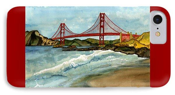 Golden Gate Reprieve IPhone Case by Janine Hunn