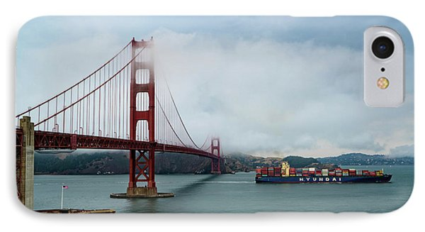 Golden Gate Ship IPhone Case