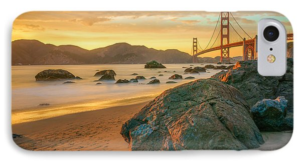 Golden Gate Sunset IPhone Case by James Udall