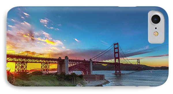 Golden Gate Sunset IPhone Case by Phil Fitzgerald
