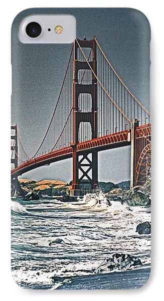 Golden Gate Surf Phone Case by Dennis Cox WorldViews