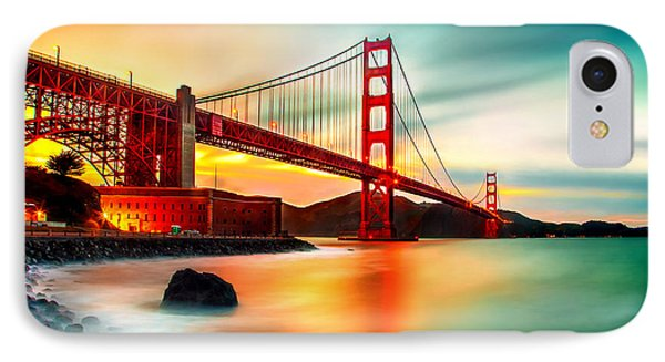 Golden Gateway IPhone Case by Az Jackson