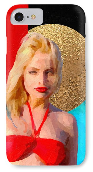 IPhone Case featuring the digital art Golden Girl No. 2 by Serge Averbukh