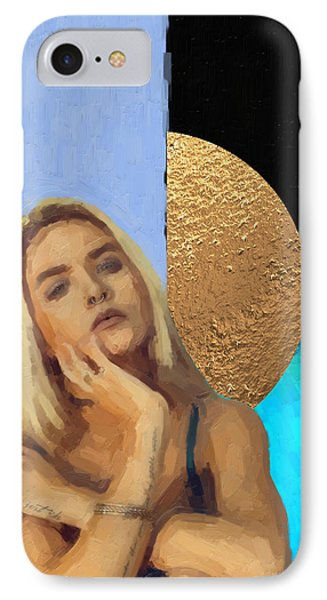 IPhone Case featuring the digital art Golden Girl No. 4  by Serge Averbukh