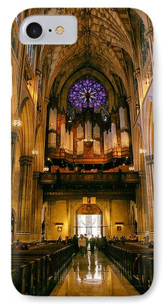 Golden Glow Of St. Patrick's Cathedral IPhone Case by Jessica Jenney