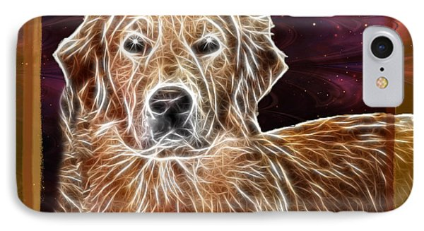 Golden Glowing Retriever IPhone Case by EricaMaxine  Price