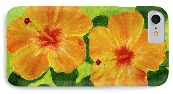 Golden Hawaii Hibiscus Flower #25 Phone Case by Donald k Hall