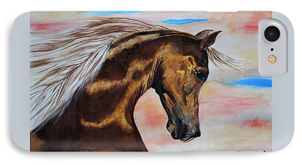 IPhone Case featuring the painting Golden Horse by Melita Safran