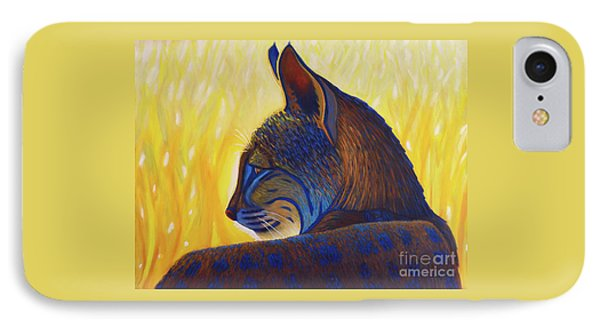 Golden Hour Bobcat IPhone Case by Brian Commerford