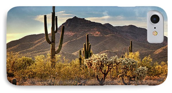 IPhone Case featuring the photograph Golden Hour On Usery Mountain  by Saija Lehtonen
