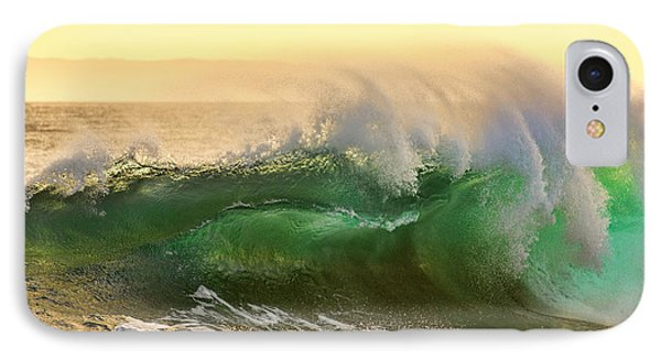 IPhone Case featuring the photograph Golden Hour Waves by Eddie Yerkish