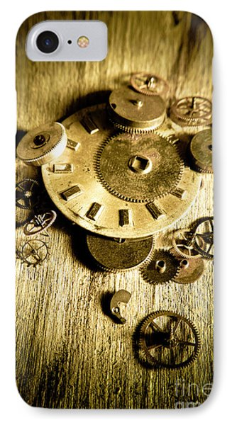 Golden Industry Gears  IPhone Case by Jorgo Photography - Wall Art Gallery